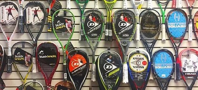 Selecion raquetas de squash